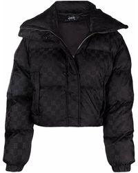 MISBHV Monogram-print Puffer Jacket - Black