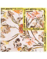 Off-White c/o Virgil Abloh - Floral Logo-border Scarf - Lyst