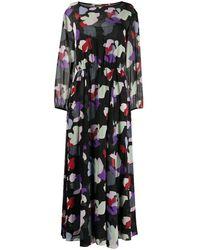 Emporio Armani Floral Print Maxi Dress - Black