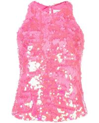 MILLY - Sequined Top - Lyst