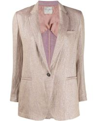 Forte Forte Single-breasted Fitted Blazer - Pink
