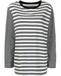 The Upside ストライプ ロングtシャツ - ブラック