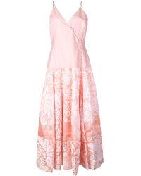 Rosie Assoulin Damask ラップドレス - ピンク