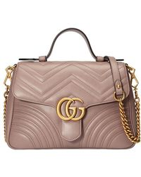 Gucci - Gg Marmont Small Top Handle Bag - Lyst