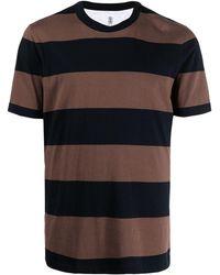 Brunello Cucinelli - Gestreiftes T-Shirt - Lyst