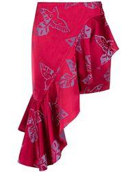 Martha Medeiros - Jacquard Asymmetrical Skirt - Lyst