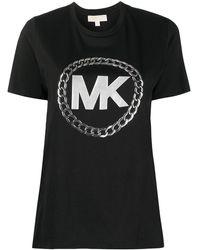 MICHAEL Michael Kors T-shirt à logo métallisé - Noir