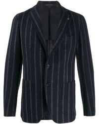 Tagliatore Woven Striped Blazer - Blue
