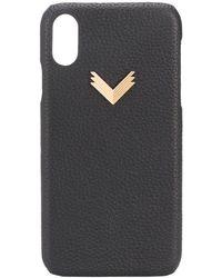 Manokhi Funda para iPhone XR con diseño en relieve - Negro