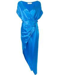 Michelle Mason - シルク ラップドレス - Lyst