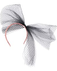 RED Valentino Mesh Tulle Bow Hairband - Pink