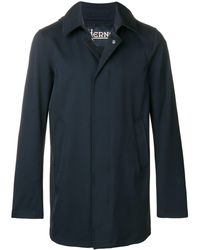 Herno Mid-length Single Breasted Coat - Blue