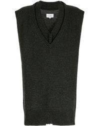 Maison Margiela デコンストラクト セーター - グリーン