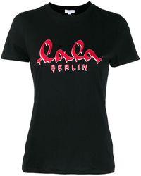Lala Berlin ロゴ Tシャツ - ブラック
