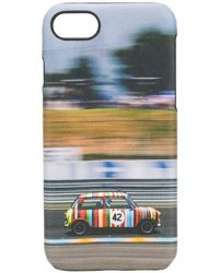 Paul Smith Vintage Car Printed Iphone 8 Case - Blue