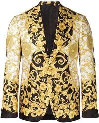 Versace - Blazer à imprimé baroque - Lyst