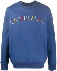 CASABLANCA ロゴ プルオーバー - ブルー