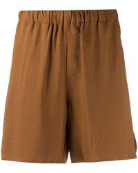 AMI Shorts con vita alta - Marrone
