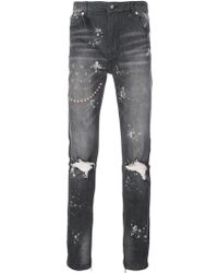 God's Masterful Children - Ripped Embroidered Slim-fit Jeans - Lyst