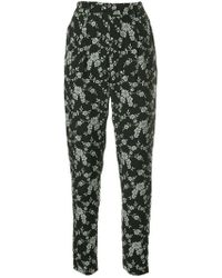 Co. - Floral Print Tapered Trousers - Lyst