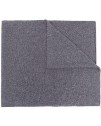 Fedeli Fine-knit Cashmere Scarf - Grey