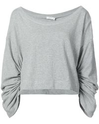 A.L.C. Ember Ruched Sleeve Sweatshirt - Gray
