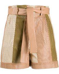 DROMe Shorts con cintura paper bag - Marrón