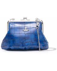 Vivienne Westwood クロコパターン ショルダーバッグ - ブルー