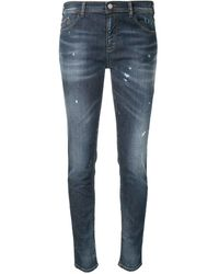 Emporio Armani - Distressed-effect Skinny Jeans - Lyst
