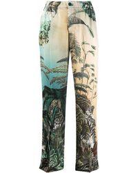 F.R.S For Restless Sleepers Pantalones rectos con hojas estampadas - Verde