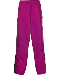 Acne Studios Contrasting Stripe Track Pants - Purple