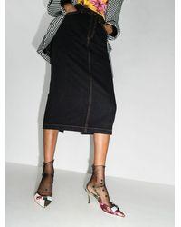Dolce & Gabbana 70mm Patchwork Slingback Pumps - ピンク