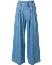 Pantalones Cinturón Anchos Con Azul KTJl1uFc35