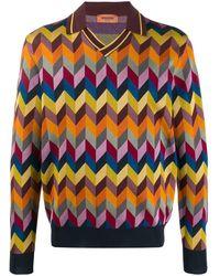 Missoni ポロカラー セーター - マルチカラー