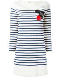 Marc By Marc Jacobs Patched Breton Stripe Dress - Blauw