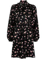 byTiMo フローラル ドレス - ブラック