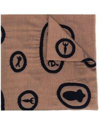Chloé Knitted-motif Silk Scarf - Brown