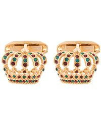 Dolce & Gabbana - Запонки В Виде Короны - Lyst