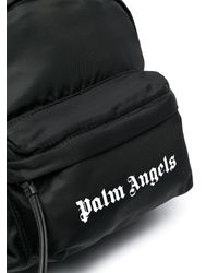 Palm Angels Essential ロゴプリント バックパック - ブラック