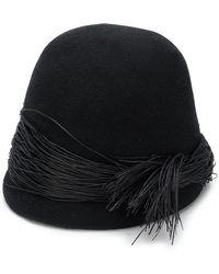 Isabel Benenato Embellished Hat - Black