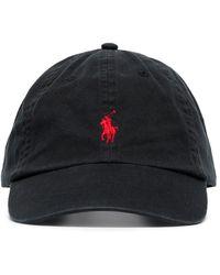 Polo Ralph Lauren - Черная Бейсболка С Красным Логотипом -черный - Lyst