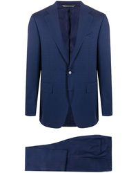 Canali Fitted Two-piece Suit - Blue