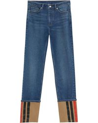 Burberry ストレートジーンズ - ブルー