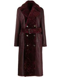 Marni Пальто Миди С Поясом - Красный