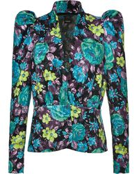 Pinko Jacke mit Blumen-Print - Blau