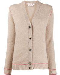 Marni V-neck Cashmere Cardigan - Multicolour