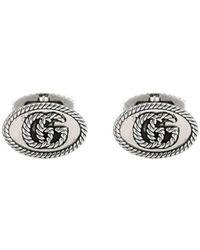 Gucci Manchetknopen Met GG Logo - Metallic