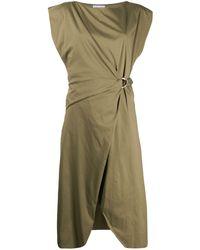Patrizia Pepe D-ring Buckle Dress - Green