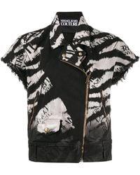 Versace Jeans ロゴ デニムジャケット - ブラック