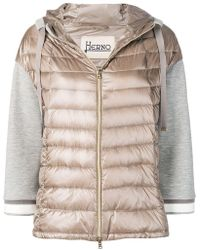 Herno - Panelled Padded Jacket - Lyst
